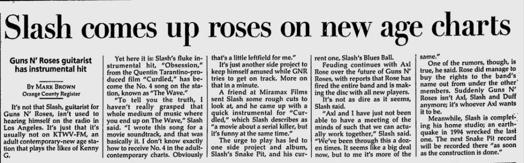 1997.02.10 - Milwaukee Journal - Slash Comes Up Roses on New Age Chart (Slash) Utennavn-37