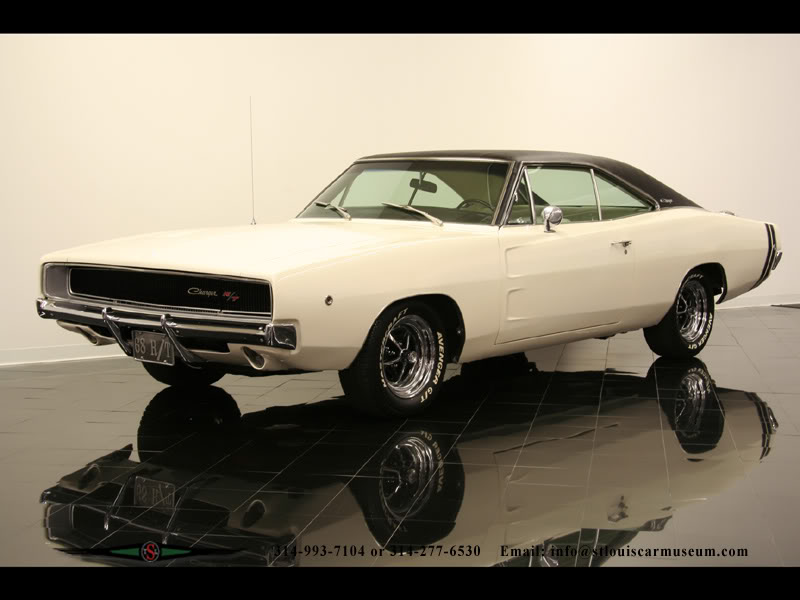 Dodge Charger - 1968 4charger68WhtBlk4spd
