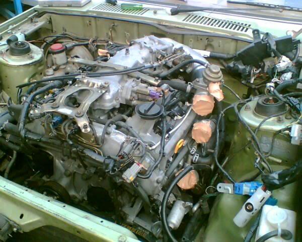 Kay's VQ30det powered 910 Bluebird EnginebayBB