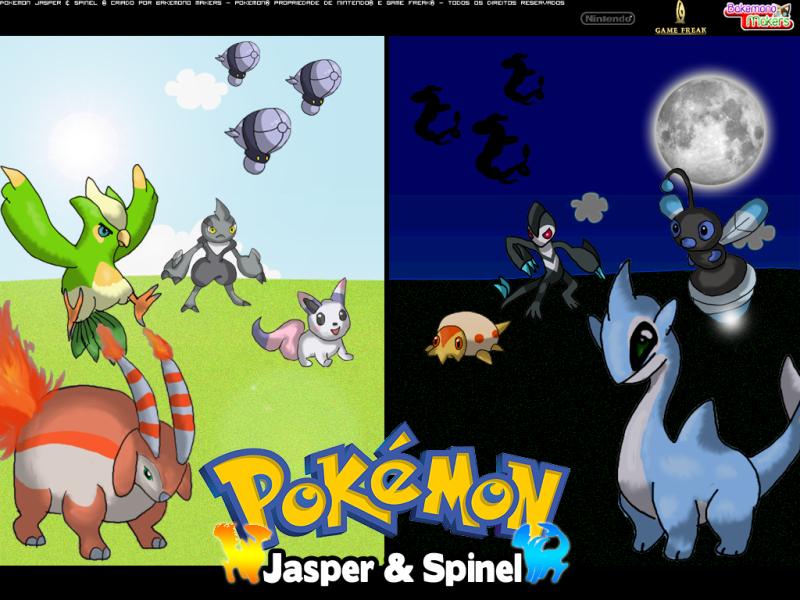 Meus fangames de Pokémon! (Jasper e Spinel) Wallpaper1024