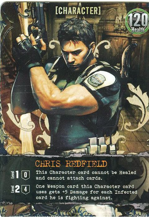 Bandai anuncia card game de Resident Evil Chris_card_front