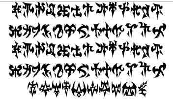 Dark Eldar Runes DEfont