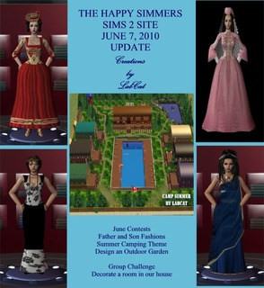 The Happy Simmers - Sims 2 Site Updates June7Update