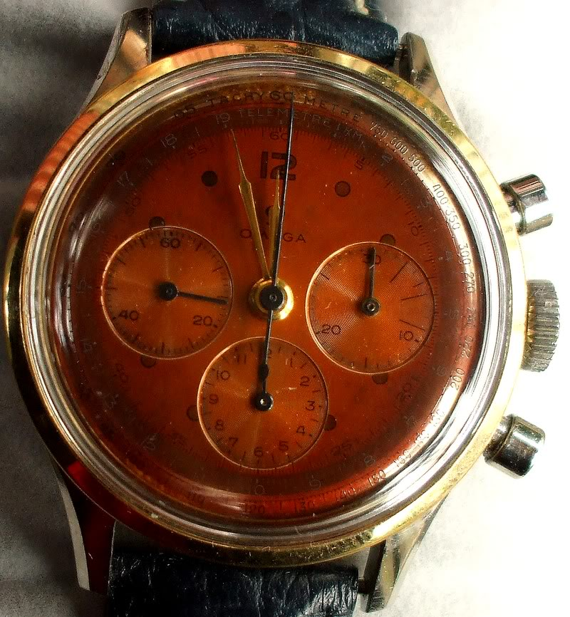 Nettoyage restauration cadran cuivre - possible ?  comment ? Chronoomega27