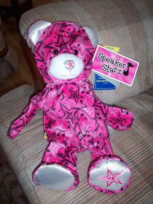 Pink Speaker Starz bear 104_0074