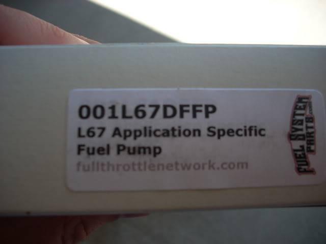 Write-Up: Walbro 255 lph Fuel Pump - Series I DSCN3665