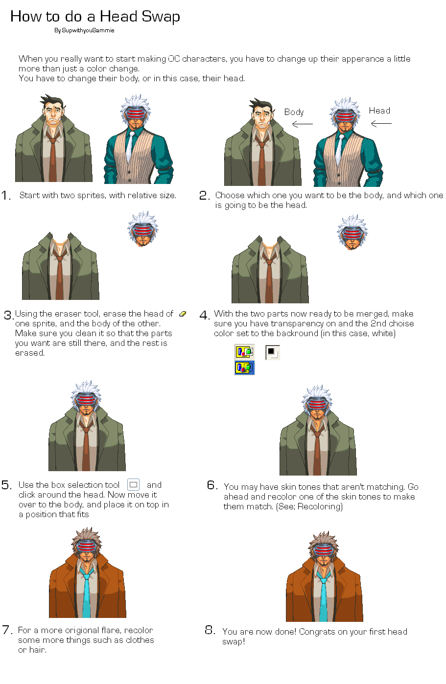 Helpful Tutorials and Hints for spriting. [Update 3/6] HeadSwap