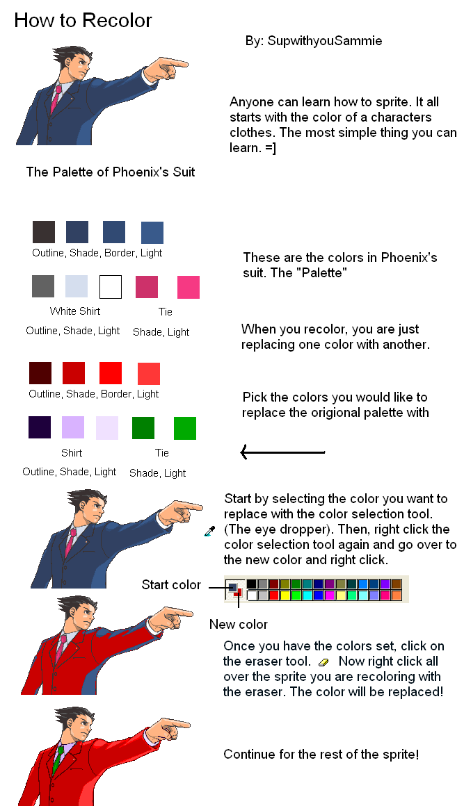Helpful Tutorials and Hints for spriting. [Update 3/6] Recoloring