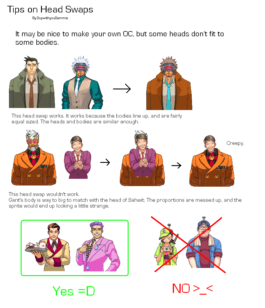 Helpful Tutorials and Hints for spriting. [Update 3/6] TipsonHeadSwaps