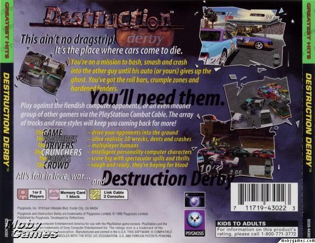 (PSX) Destruction Derby - U- (413MB) DestructionDerbyBack