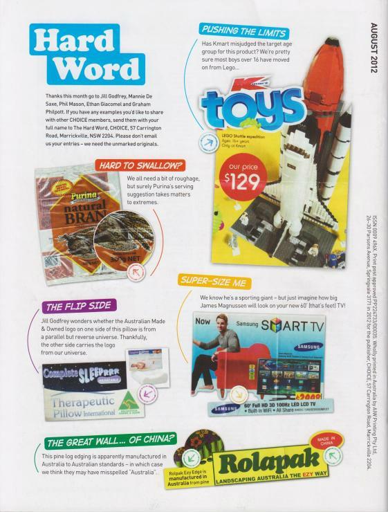 Aparently Choice Mag never heard of AFOL's!!! ChoiceMagBackcoverAug12001