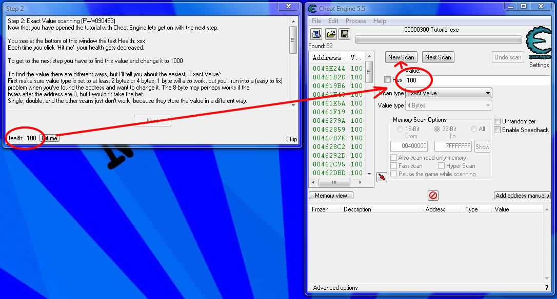 How to use Cheat Engine Firstscanlevel2