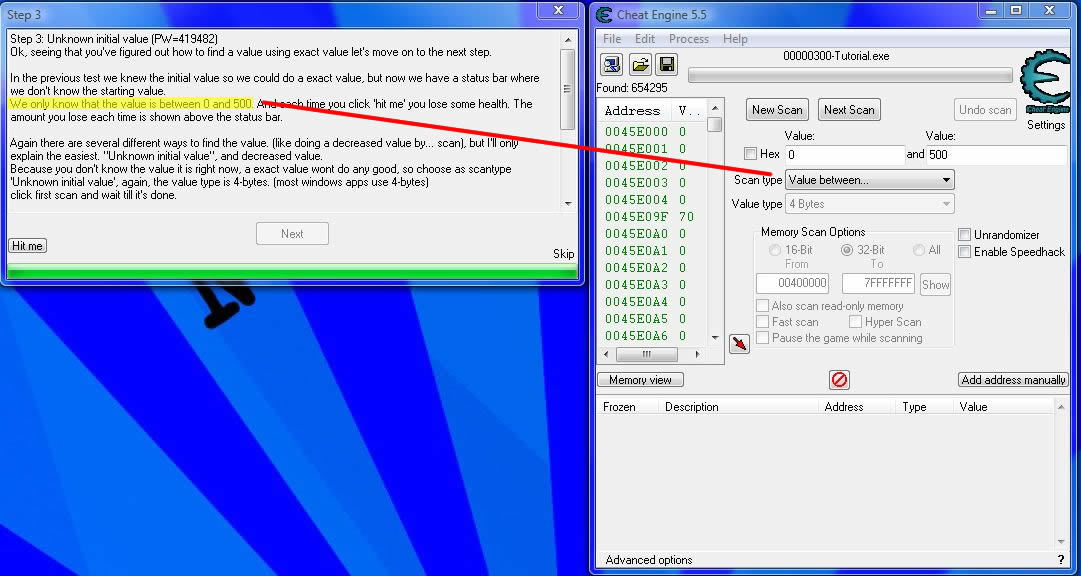 How to use Cheat Engine Valuelevel3