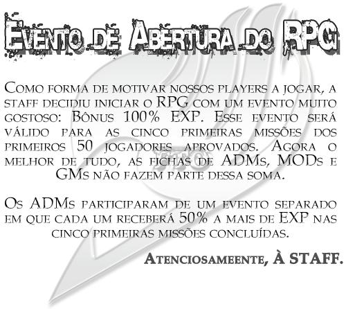 Evento de Abertura do RPG Evento