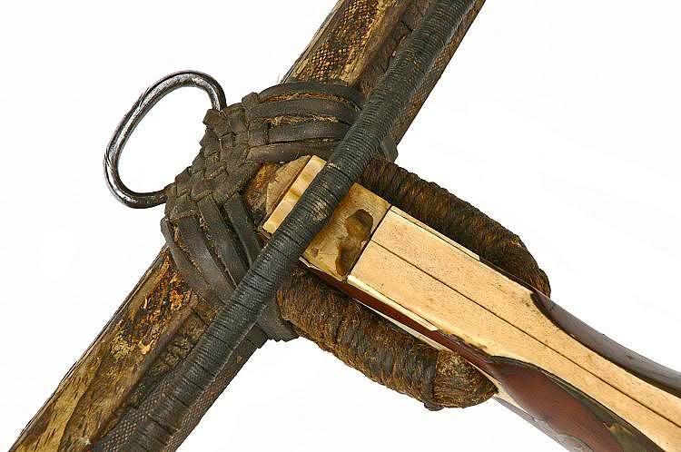 Leather braiding to bind on stirrup Got_Armbr_ausKlosterNeustiftBrixen_ausBraunschweig1475GBP25-50_000_-_4