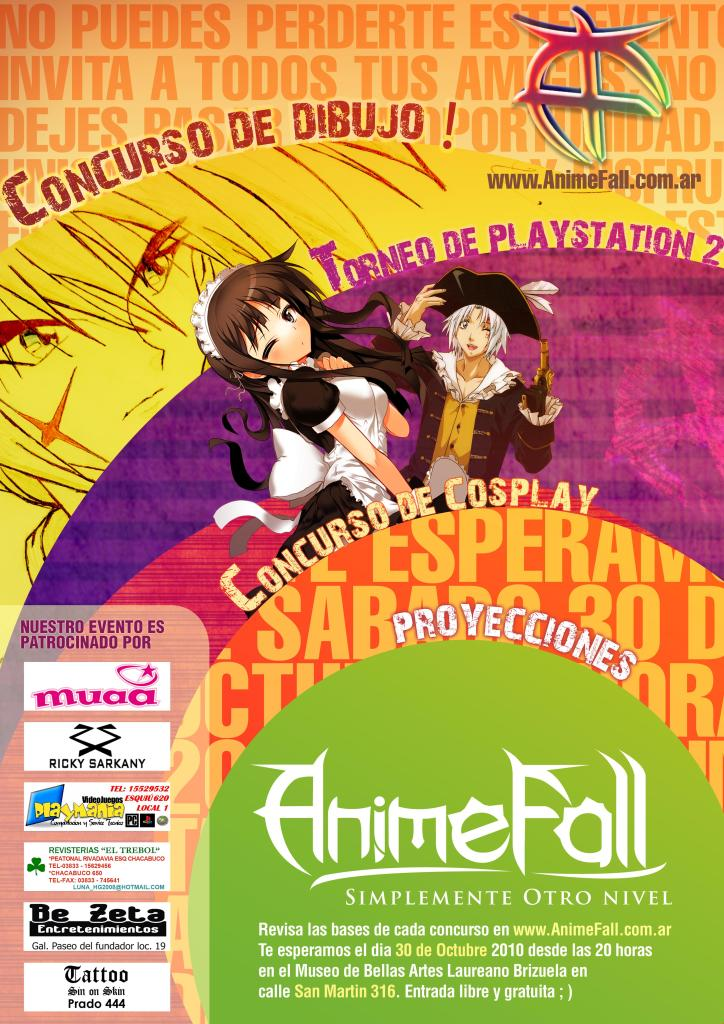 3º Evento Animefall Afichelight