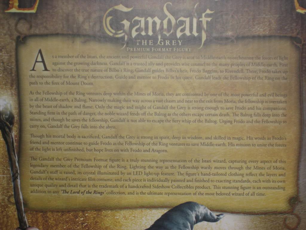 LOTR: GANDALF THE GREY Premium format IMG_7736