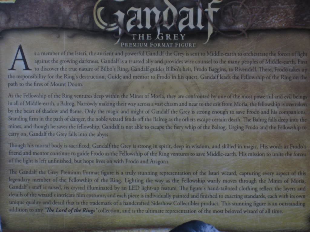 LOTR: GANDALF THE GREY Premium format IMG_7737