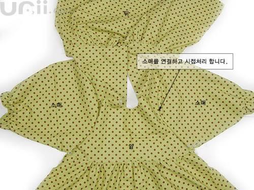 فستان بنوتة جميل مع الباترون 10-7
