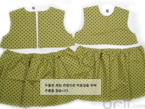 فستان بنوتة جميل مع الباترون 6-7
