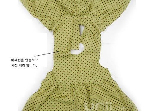 فستان بنوتة جميل مع الباترون 8-7