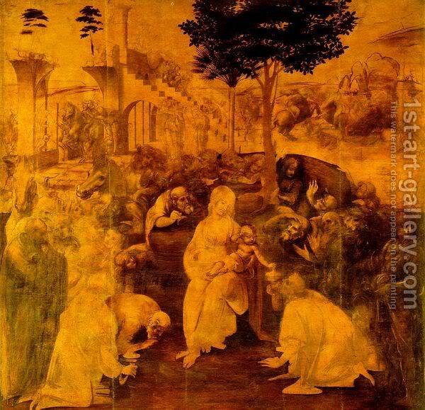 Leonardo da Vinči Adoration-Of-The-Magi