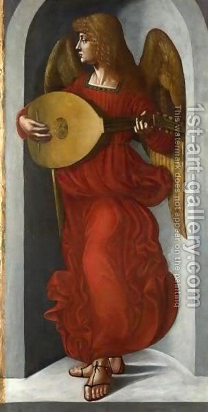 Leonardo da Vinči An-Angel-In-Red-With-A-Lute