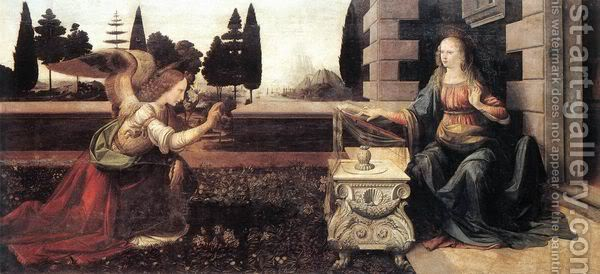 Leonardo da Vinči Annunciation-28annunciazione29