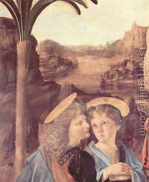 Leonardo da Vinči Baptism-28detail29-2
