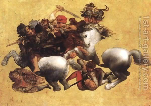 Leonardo da Vinči Battle-Of-Anghiari