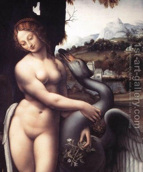 Leonardo da Vinči Leda-28detail29-1508-15