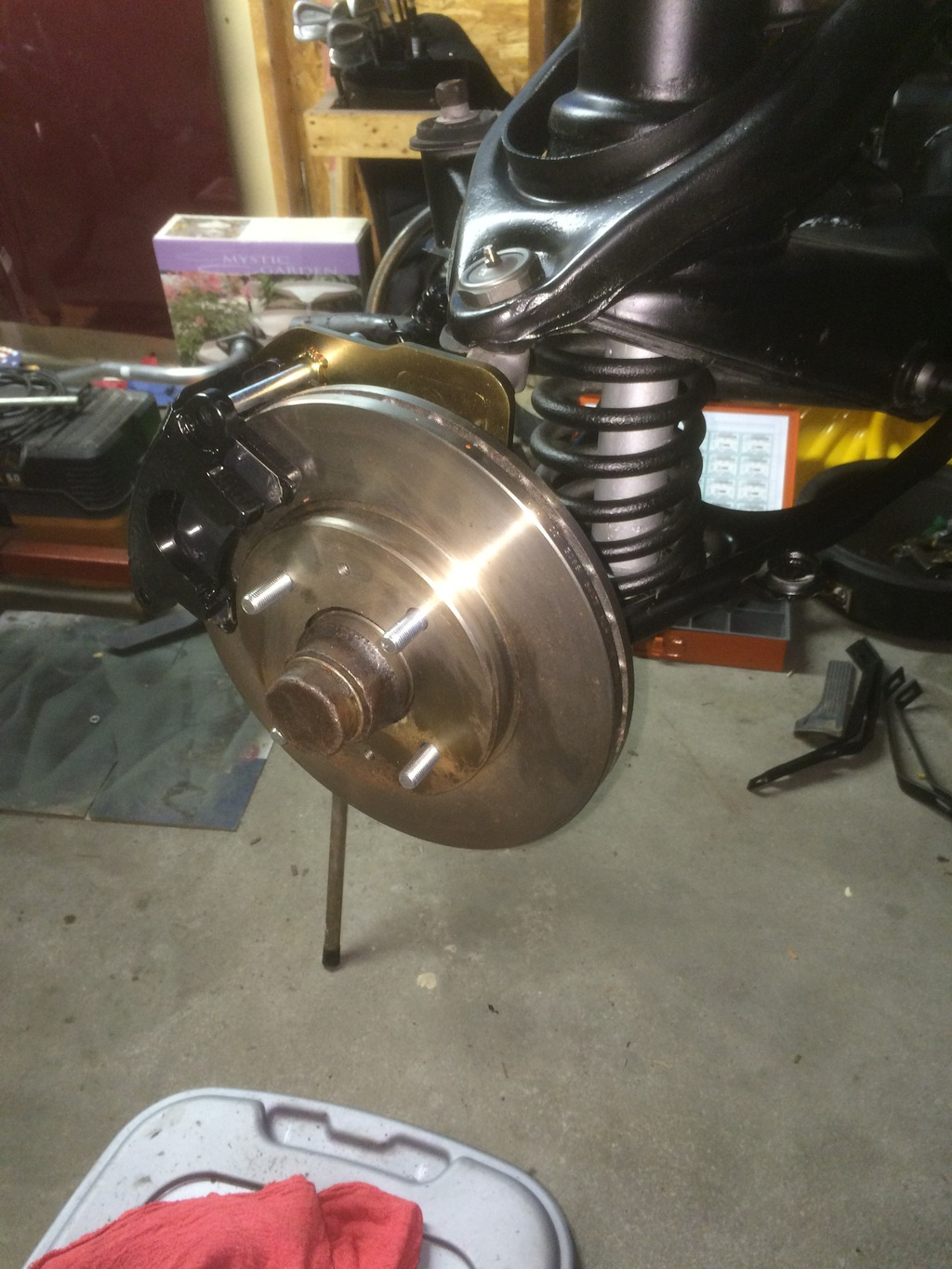Front disc brake conversion (Scarebird)