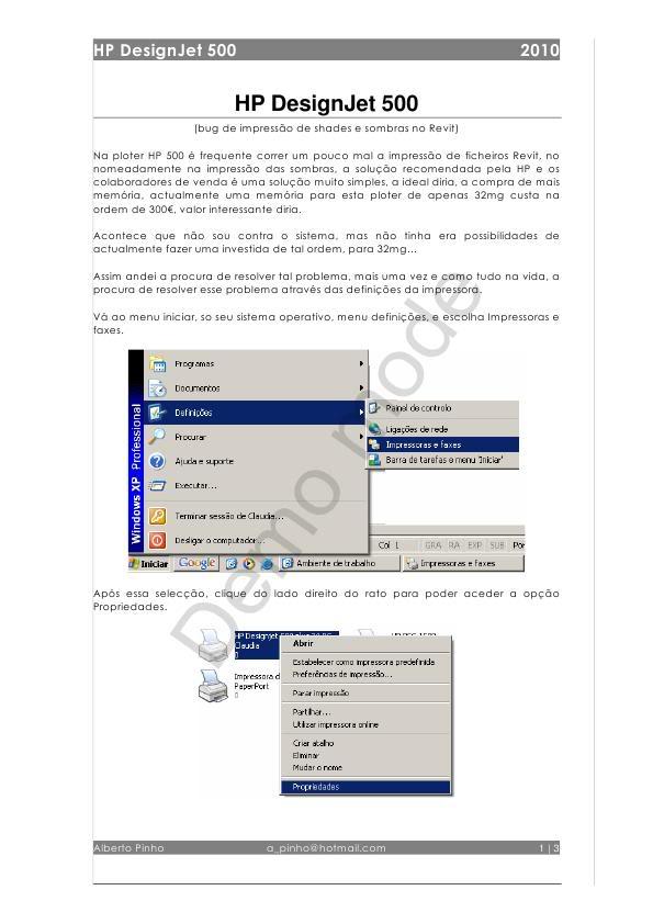 Configuração de HP DesignJet 500 ImpressoraHP500_0001