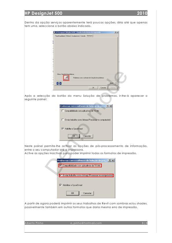 Configuração de HP DesignJet 500 ImpressoraHP500_0003