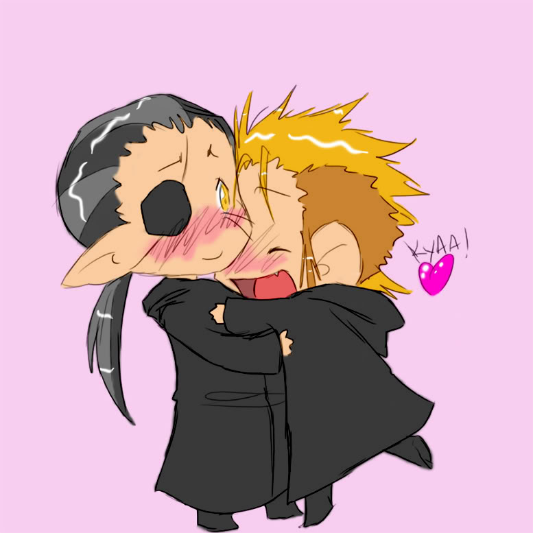 Demyx and Xigbar-hug Time! Pictures, Images and Photos