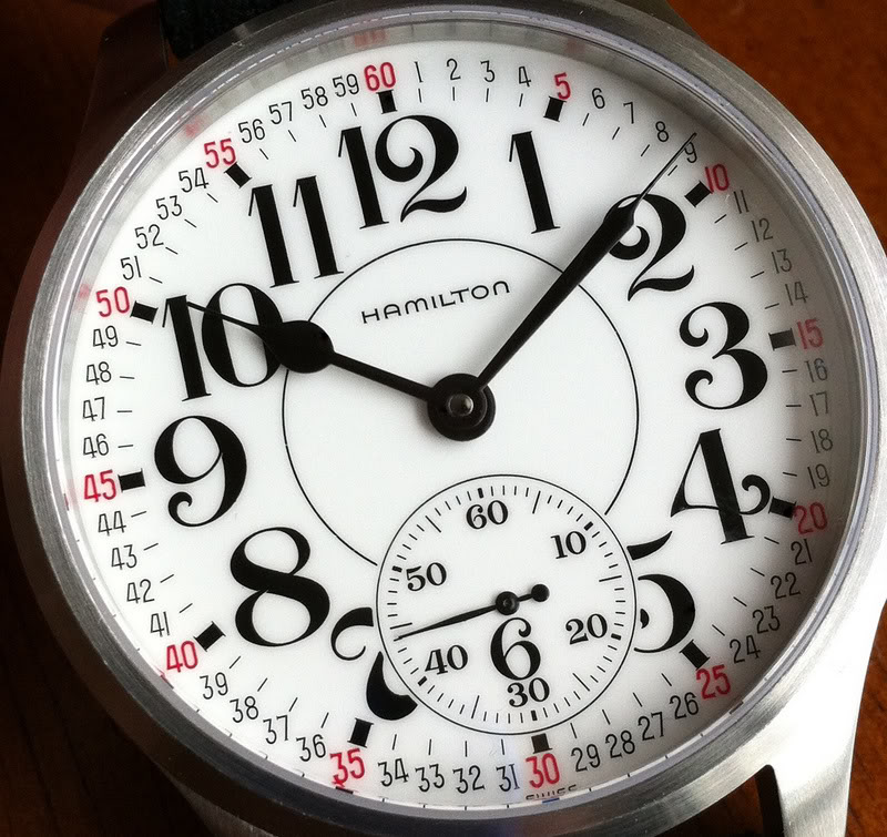Hamilton RR dial in SK-Watchparts case IMG_1614