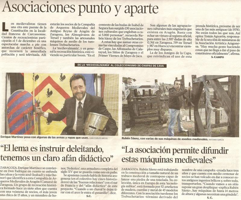 La Recreación Histórica en la prensa Carcassonne-2009-telethon