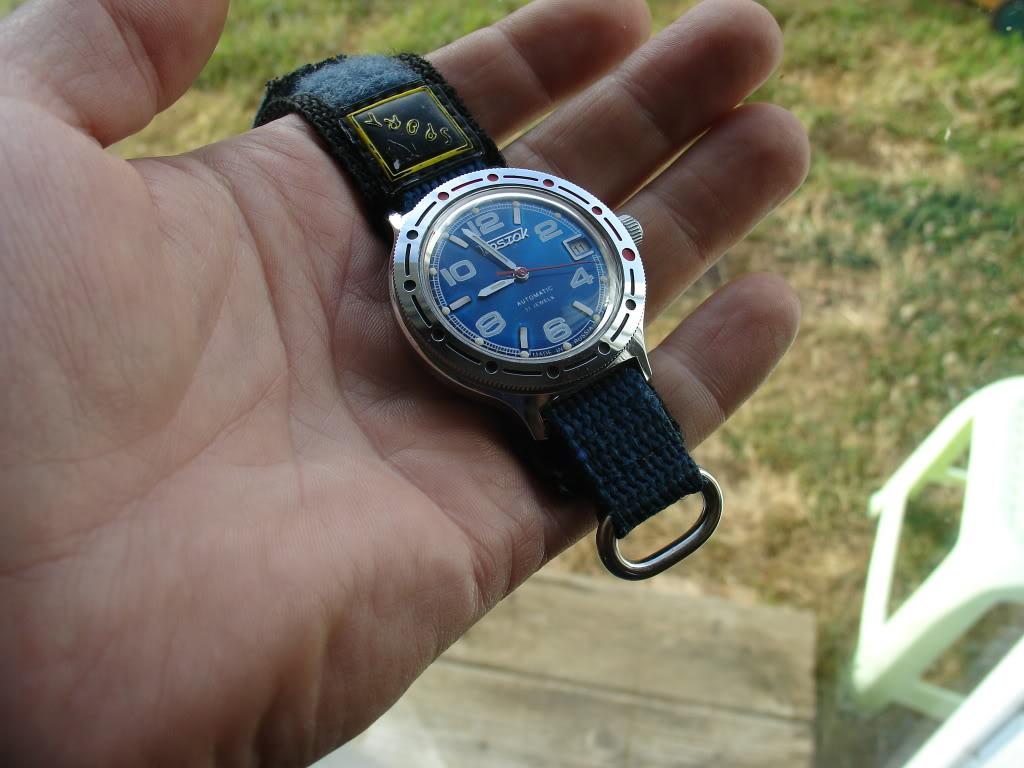 """vostok - Fallait pas les montrer (encore une Vostok Amphibia """"scuba dude bleu"""") DSC07211"""