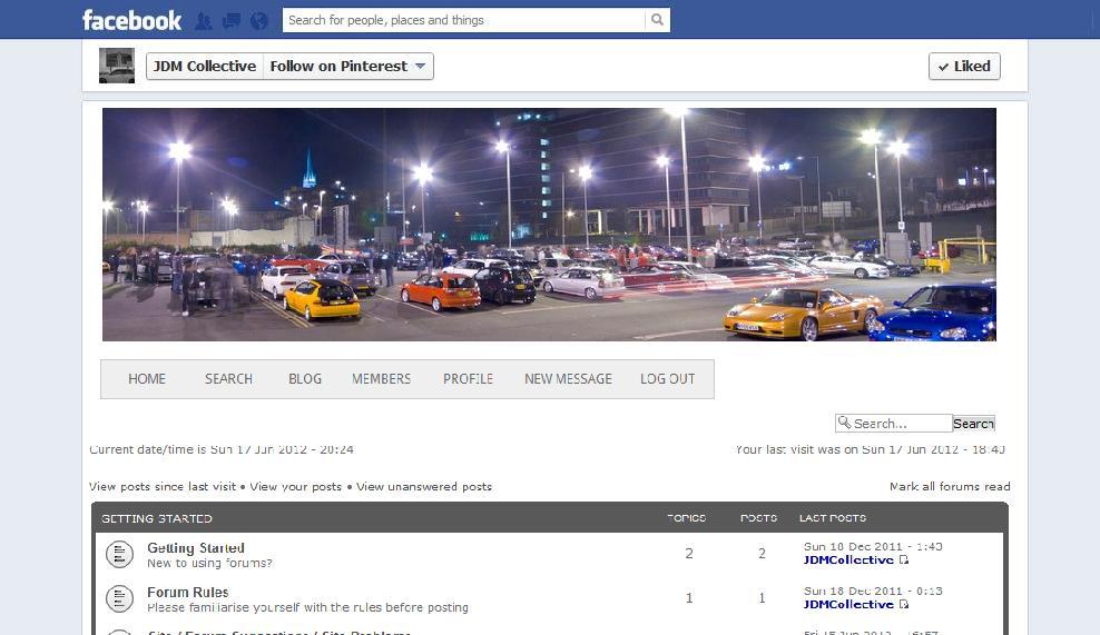 Facebook quick link app - have your forum inside Facebook window Face
