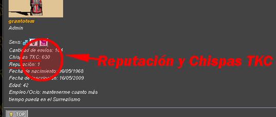 TUTORIAL - Chispas, Reputación y Votos en TKC! 5-2