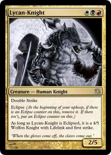 Shameless Plug Lycan-Knight