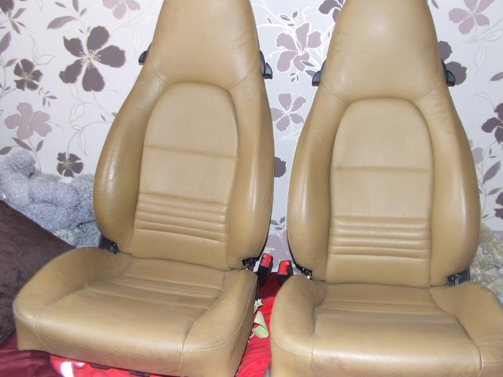 x2 Porsche Boxter FULL Leather in Tan/Cream... Includes rail DSCF4579