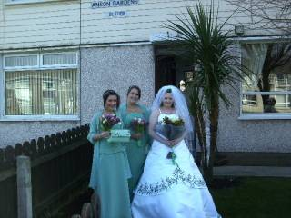 MY DAUGHTER AND HUSBAND ON WEDDING DAY 29/02/2012 Bridesmaidsandbride