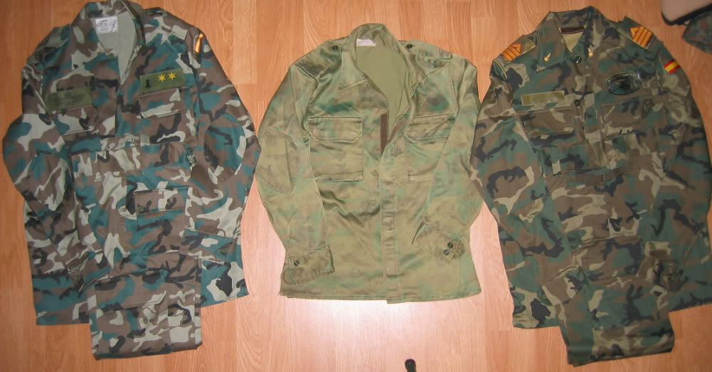 "Various Spanish Army ""Woodland"" uniforms IMG_4522"