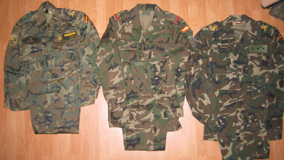 "Various Spanish Army ""Woodland"" uniforms IMG_4526"