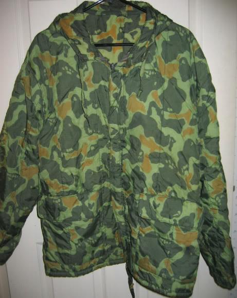 paratrooper garment camouflage build in parachute material PolishFrogskinJacket