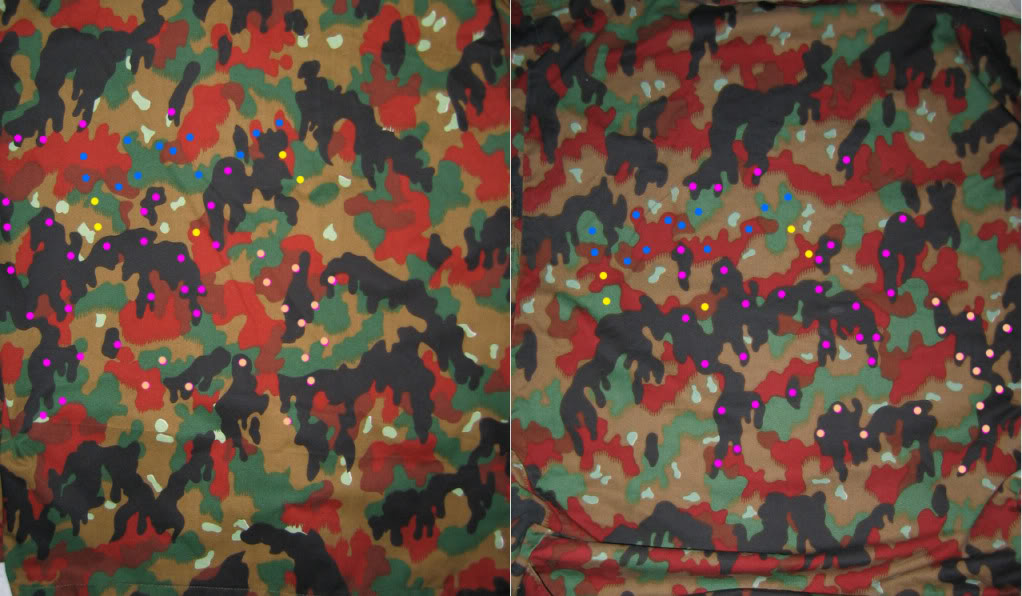 SWISS Leibermuster Camouflage Variations (courtesy of CollectinSteve) TAZ82LargeDotCompare