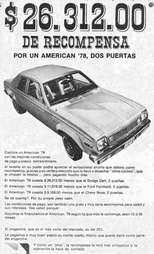 Autos en México 1978amc
