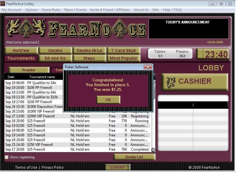 FearNoAce Final Table Finish 09-18-09 FearNoAceFinalTableFinish09-18-09