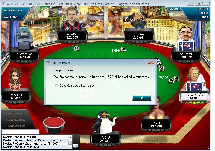 ITM Finish in a 1K Private Tourney 09-27-09 ITMFinishinaPrivatetourneyonTilt09-